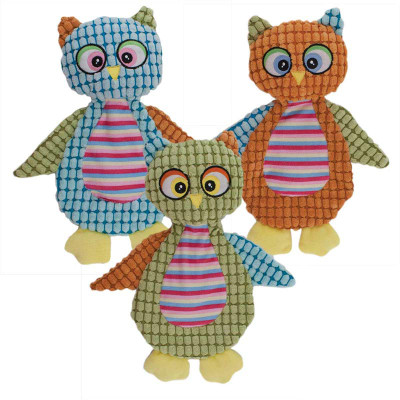 Twelve Inch Dawgeee Toy Owls for Medium and Large Dogs