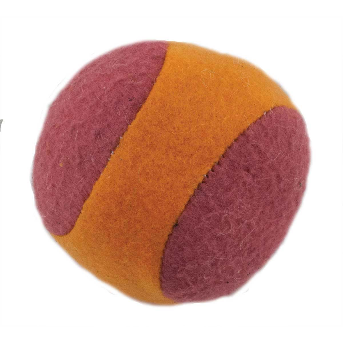 2.5 inch Dawgeee Toy Polar Fleece Ball With Squeaker for Dogs