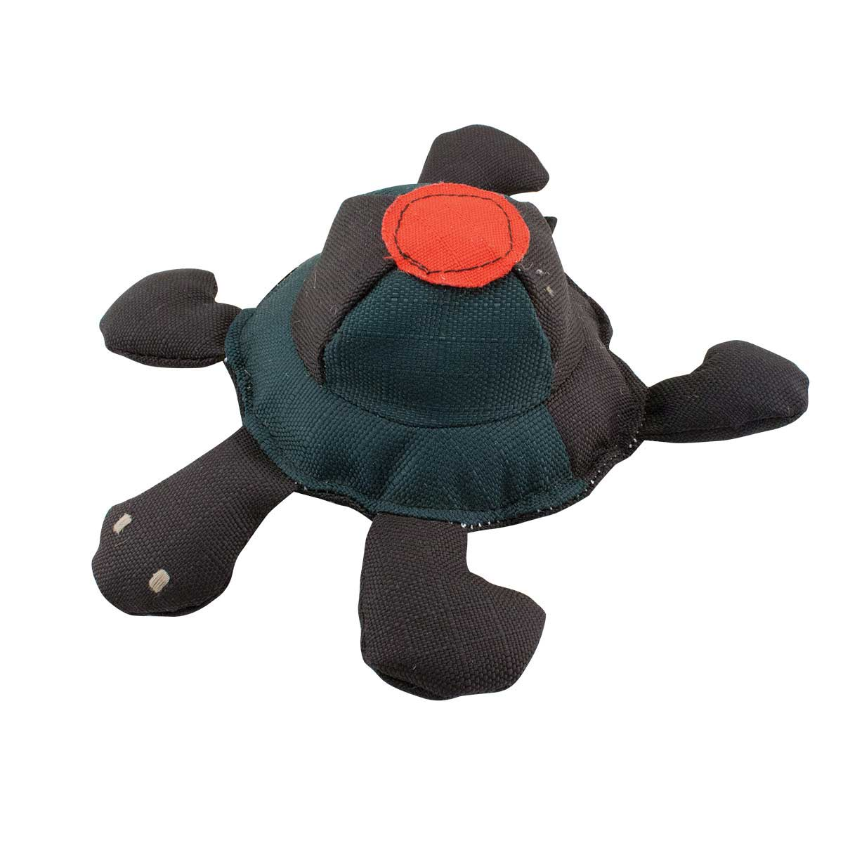 Dawgeee Toy Tough Turtle With Ripstop Fabric for Dogs - 9 inches