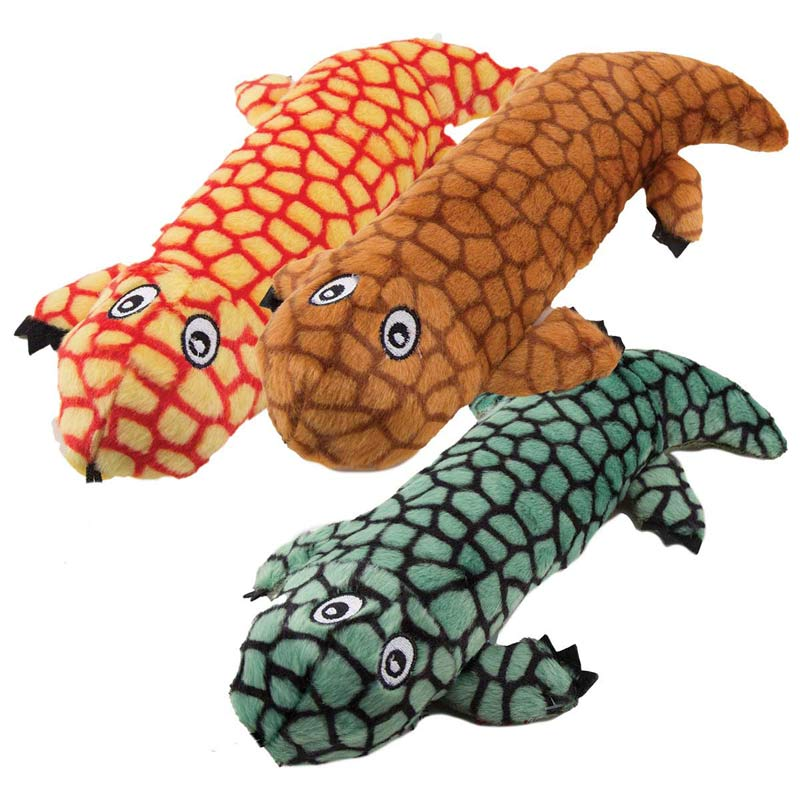 Three Designs - 11 inch Dawgeee Toy Lizards for Dogs