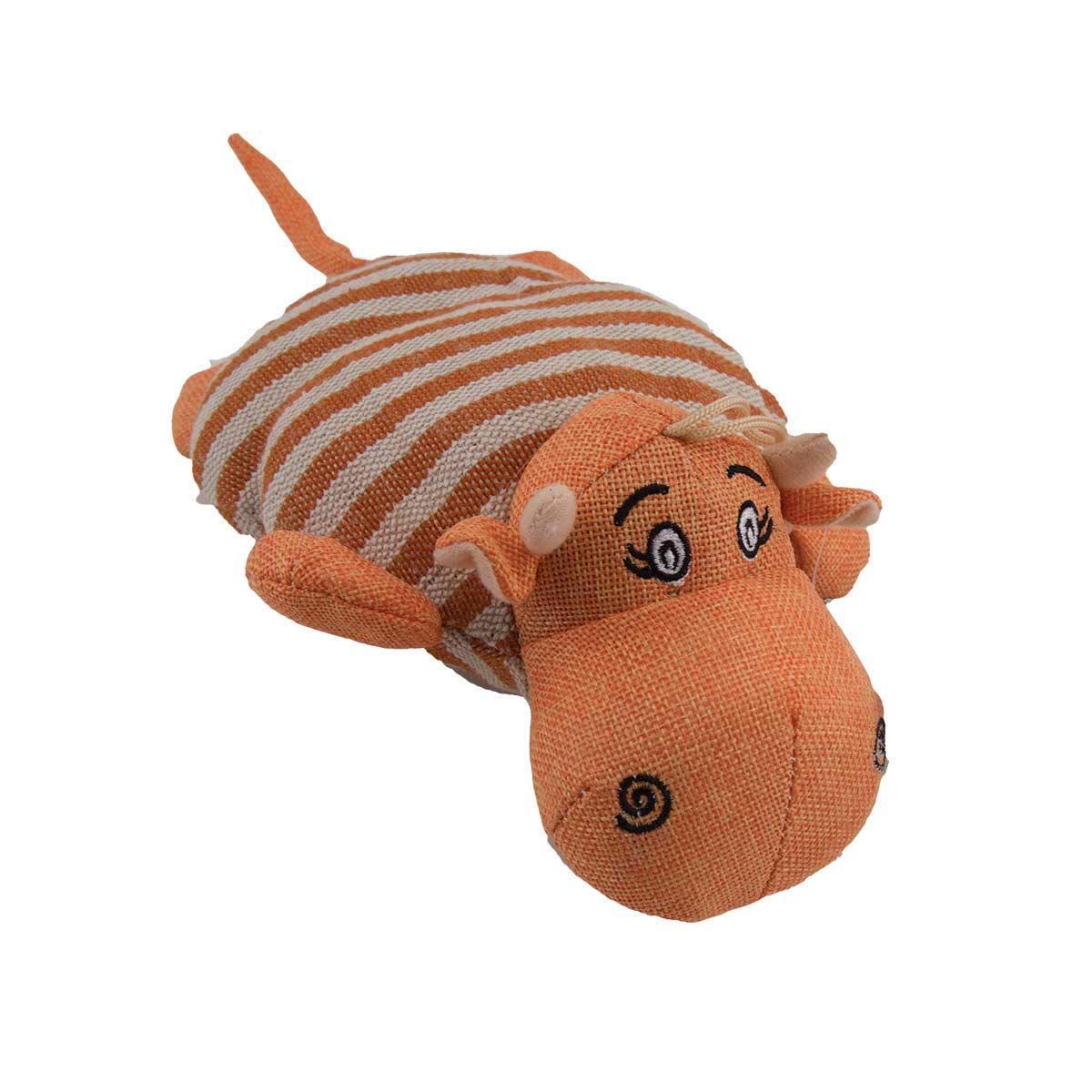 8 inch Orange Dawgeee Toy Assorted Animals
