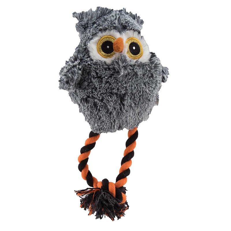 Dawgeee Toy Gray Owl 6''