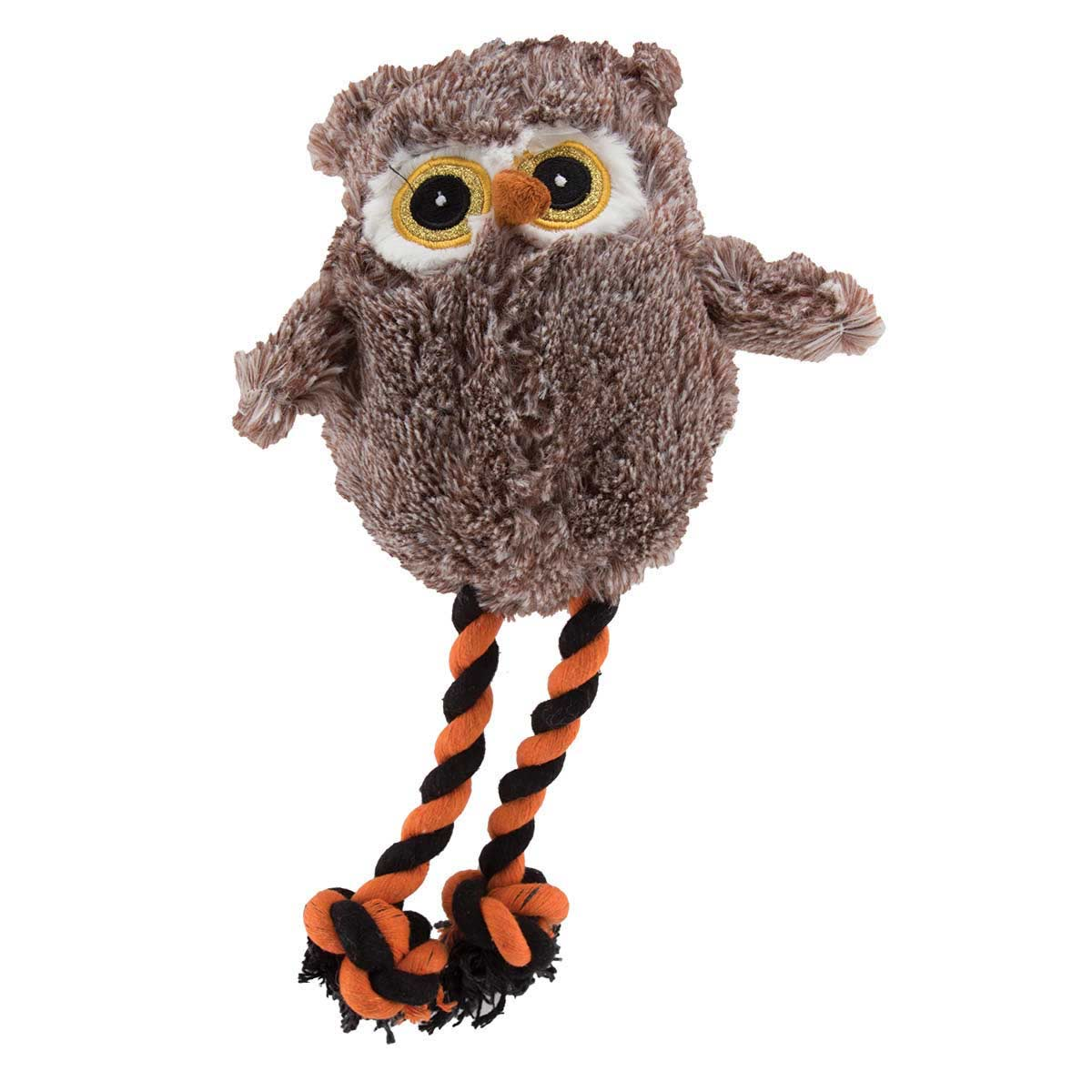 Six Inch Dawgeee Toy Owl in Brown - For dogs