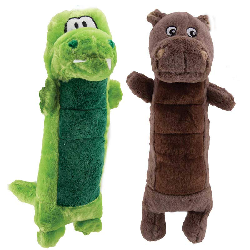 12 inch Dawgeee Toy Plush Crocodile Or Hippo for Dogs