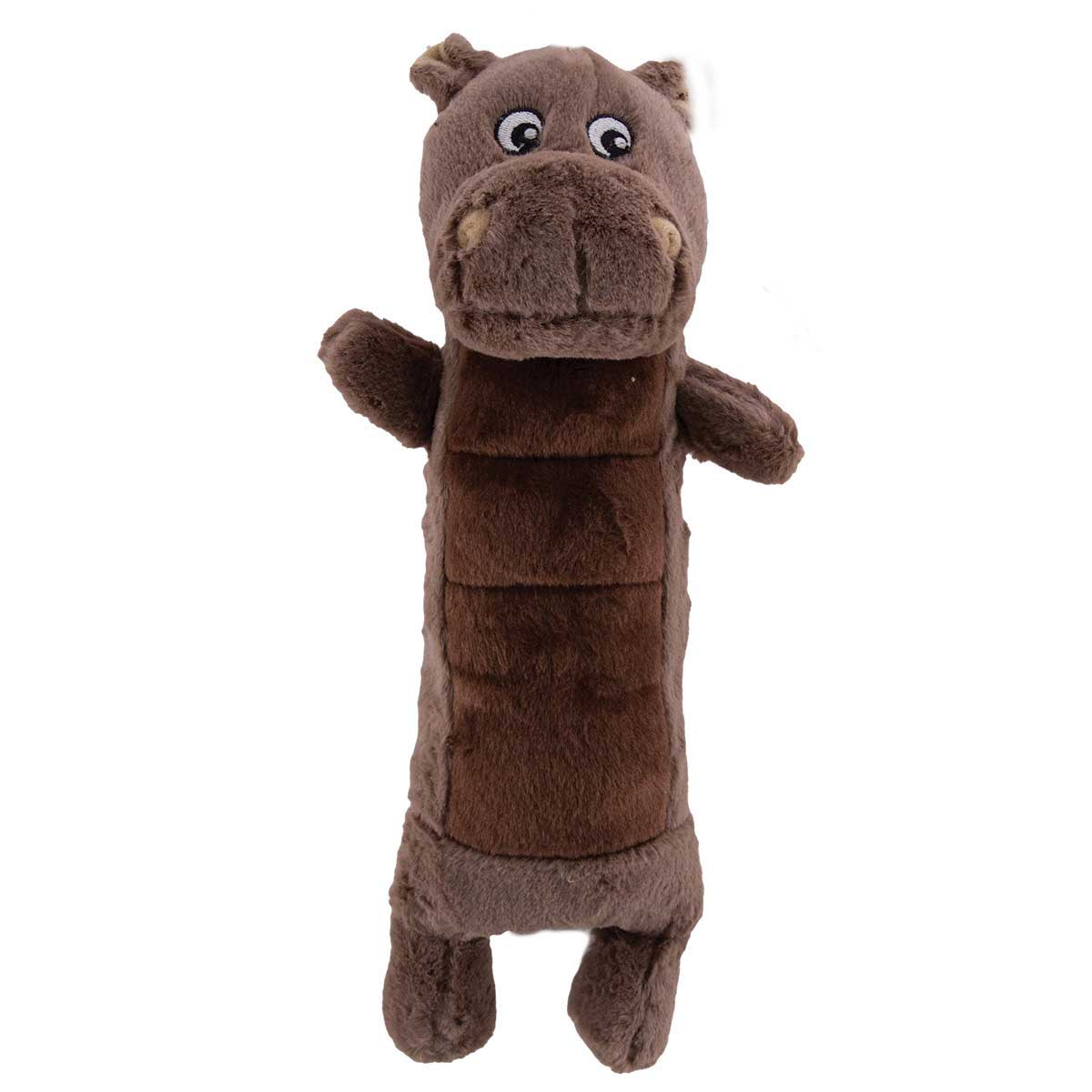 Dawgeee Toy Plush Hippo for Dogs - 12 inches tall