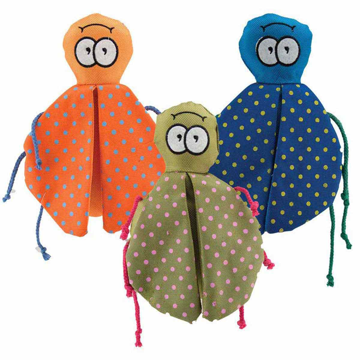 Various Colors - Dawgeee Toy Winged Beetle - Toys for Dogs