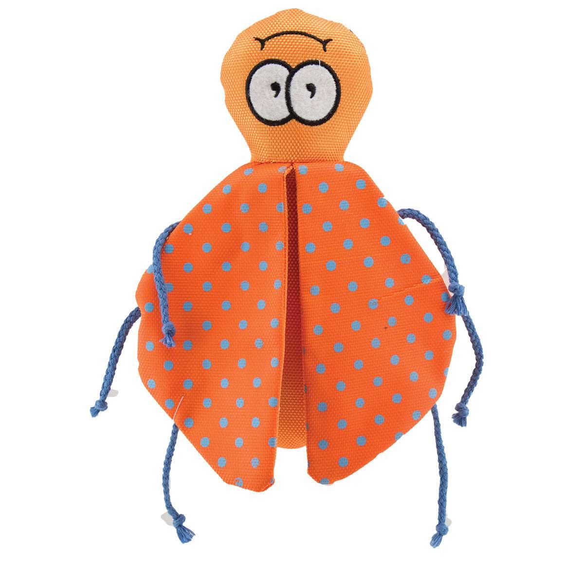 Orange 8 inch Dawgeee Dog Toy Winged Beetle
