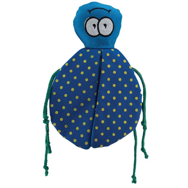 8 inch Dawgeee Toy Winged Beetle - Blue