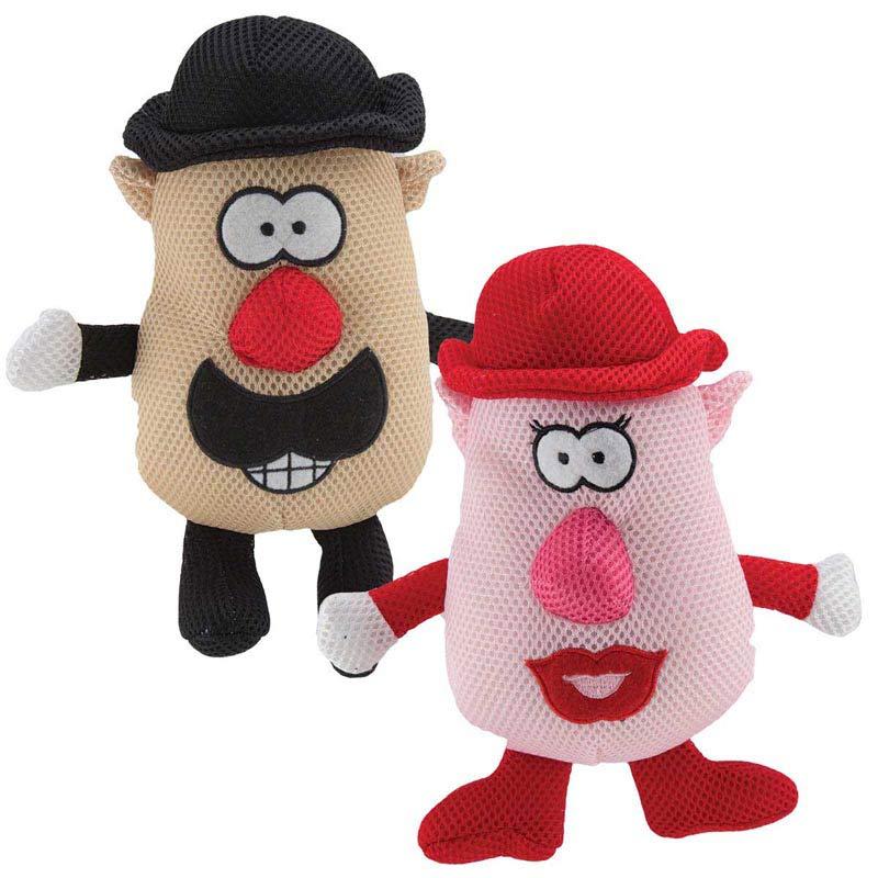 Dawgeee Toy Spudz Head Plush Dog Toys - 7 inches