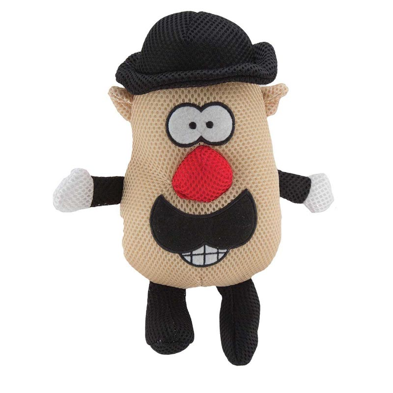 7 inch Dawgeee Toy Mr. Spudz Head Plush Toy for Dogs