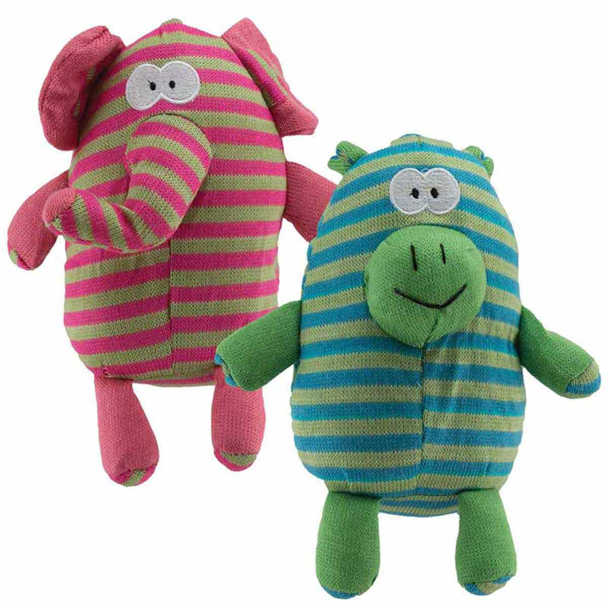Dawgeee Toy Plush Striped Jungle Animals - 10 inches