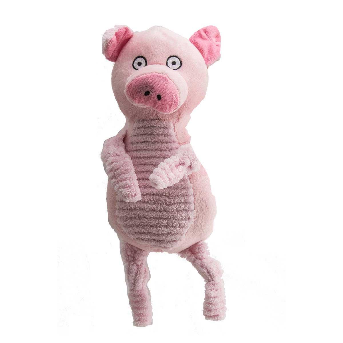 13 inch Dawgeee Toy Plush Farm Buddies Pig Dog Toy