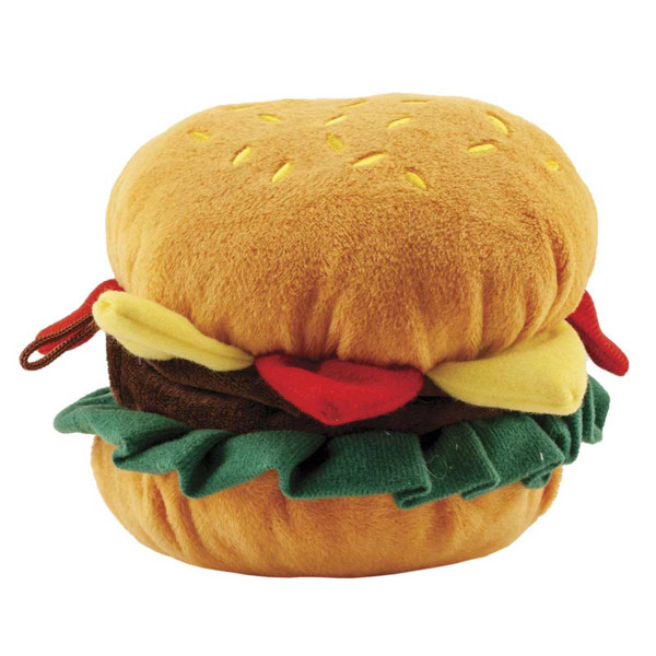 Dawgeee Toy Hamburger 6 inch Dog Toy