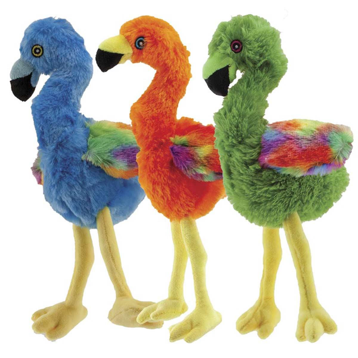 Assorted Dawgeee Toy Flamingo 9 inch Stuffed Dog Toys