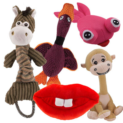 Dawgeee Toy Pack of 5 Squaker Dog Toys