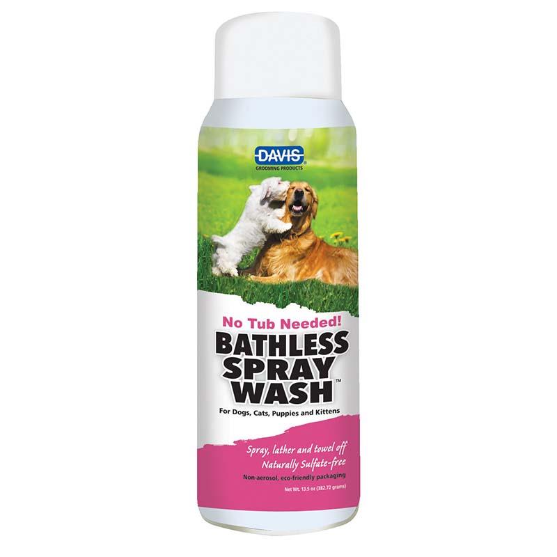 Davis Bathless Spray Wash Dry Shampoo for Dogs 13.5 oz