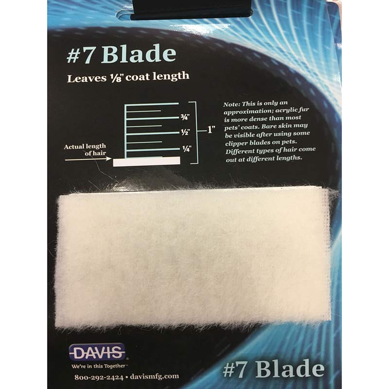 Davis Clip Chart - #7 Blade leaves 1/8 inch coat length