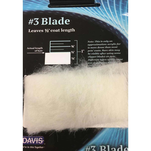 Davis Clip Chart - #3 Blade leaves 1/2 inch coat length