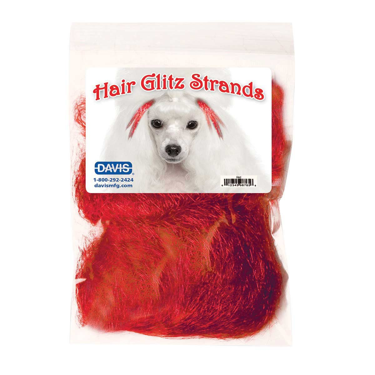Davis Red Hair Glitz Strands for Dog Grooming