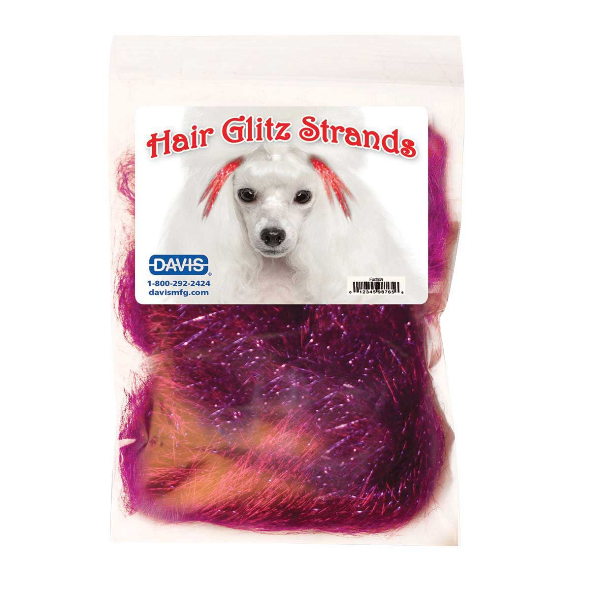 Davis Hair Glitz Strands Pink Fuchsia for Dogs