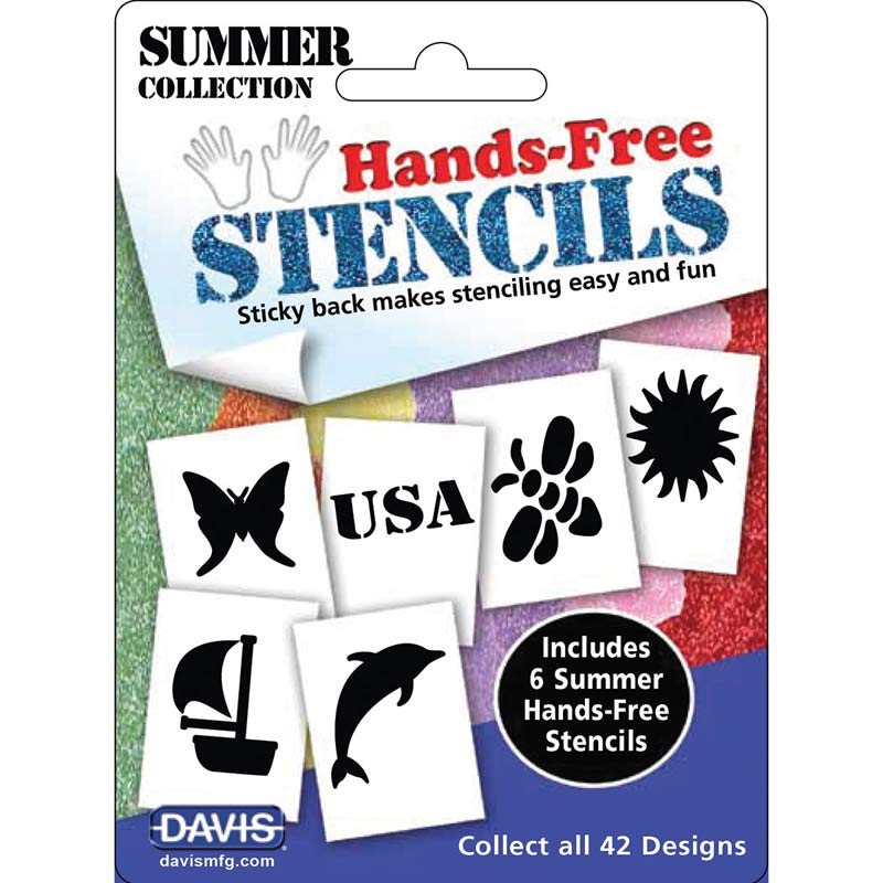 Davis Hands-Free Stencils Summer 6 Pack for Creative Dog Grooming