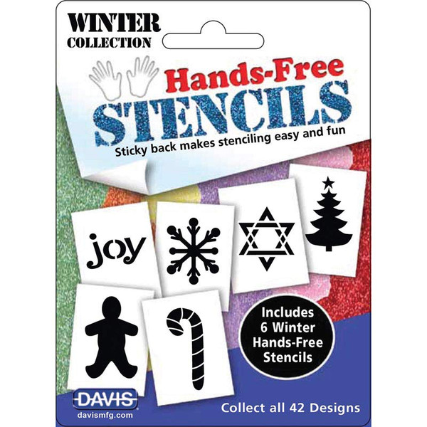 Davis Hands-Free Stencils Winter 6 Pack - for Professional Dog Groomers