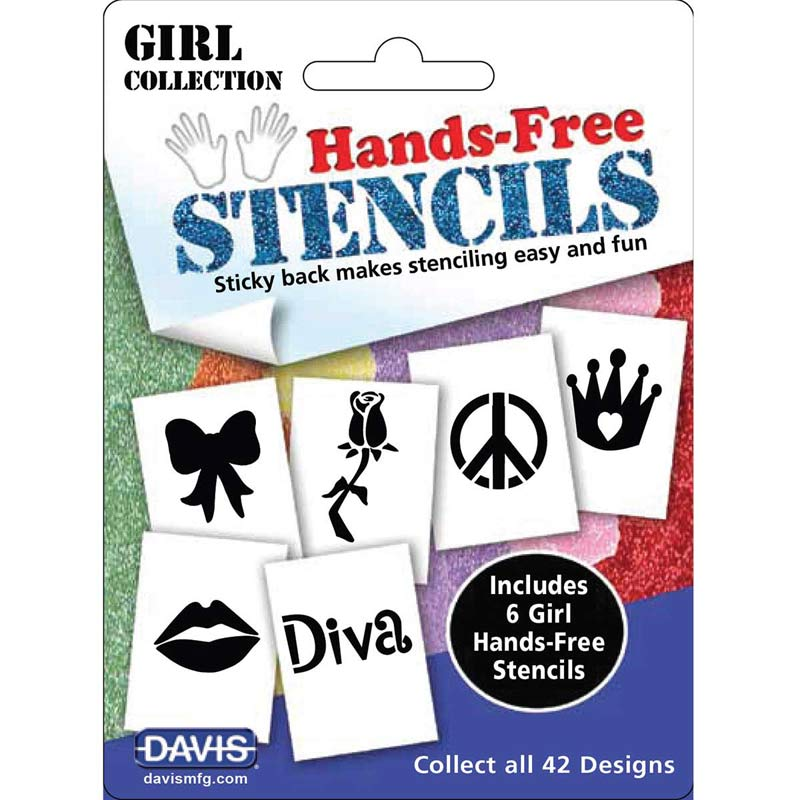 Davis Hands-Free Stencils Girl Pack of 6 Designs - for Dog Grooming