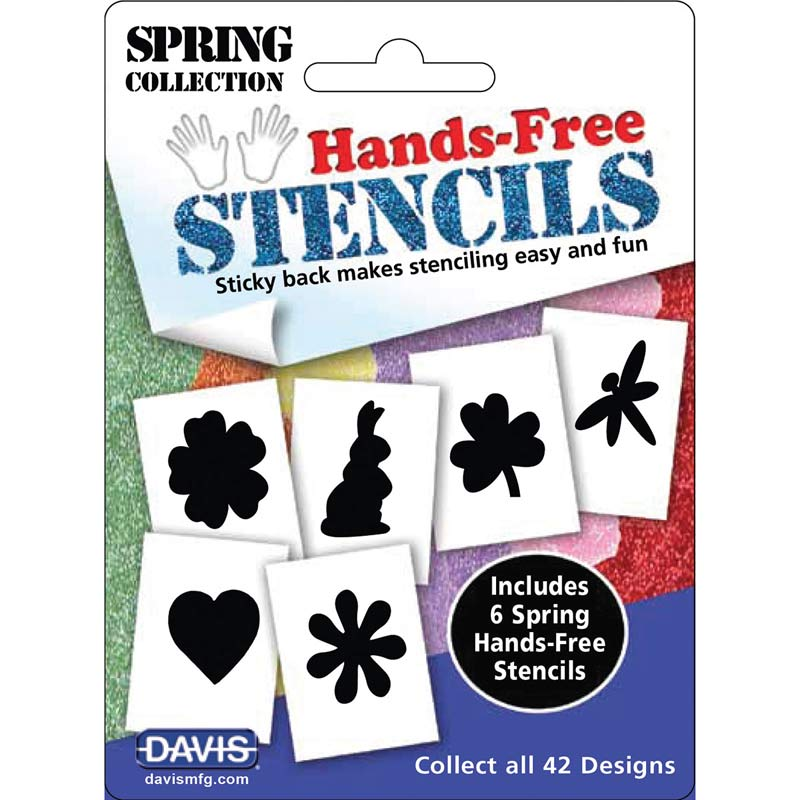 Dog Grooming Davis Hands-Free Stencils Spring 6 Pack