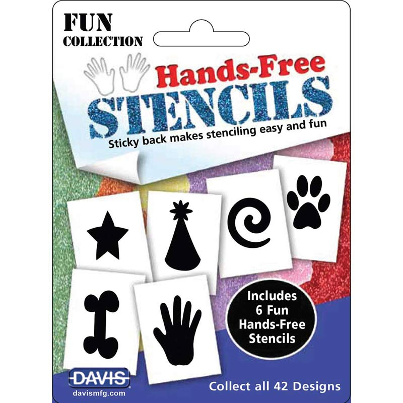 Fun Dog Grooming Davis Hands-Free Stencils Fun Pack of 6 Designs