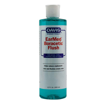 12 oz Davis EarMed Boracetic Flush available at Ryan's Pet Supplies