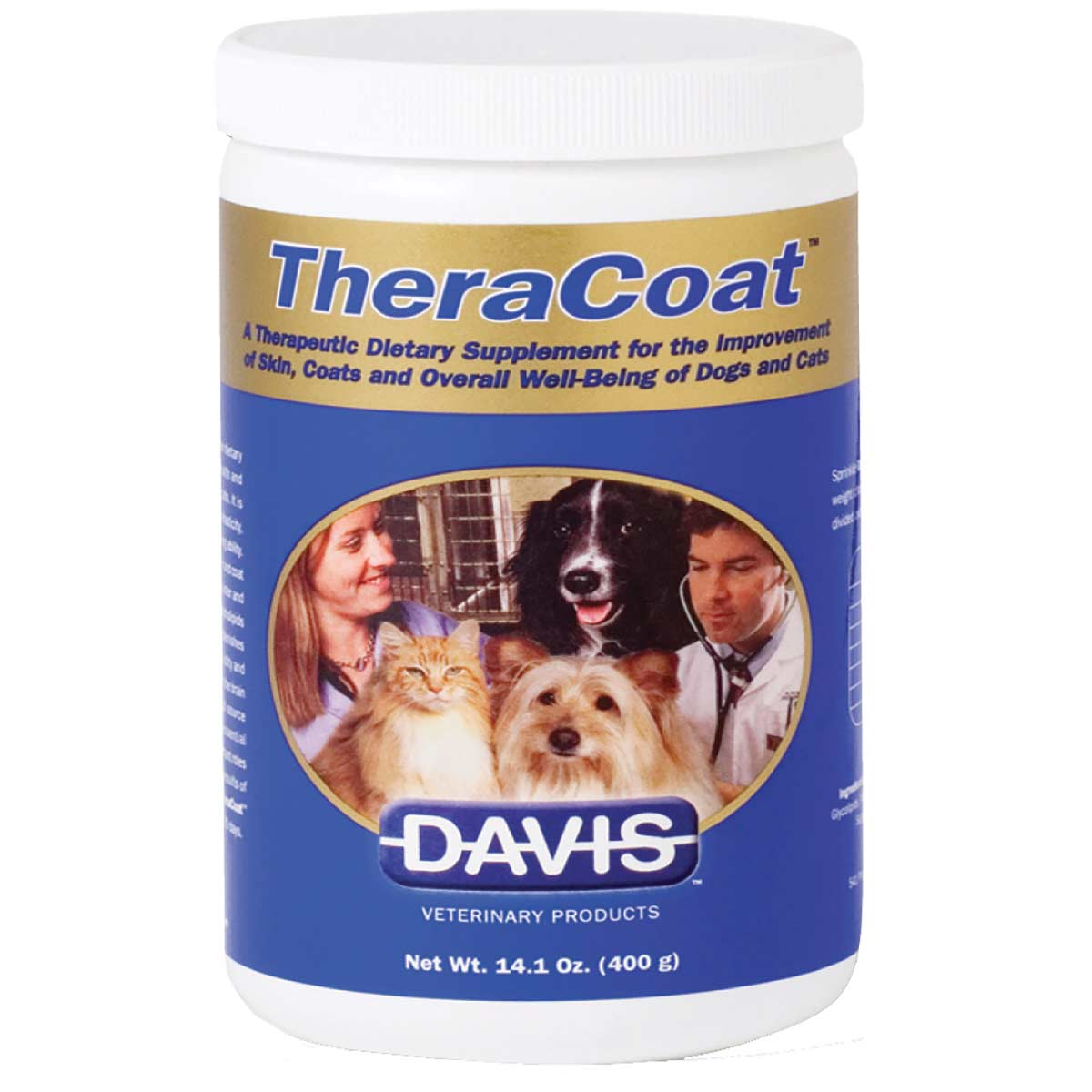 14 ounce Davis TheraCoat - Dietary Supplement for Coat Growth and Shine for Dogs and Cats