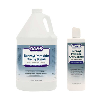 Davis Benzoyl Peroxide Creme Rinse for dogs