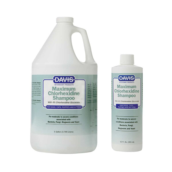 Davis Maximum Chlorhexidine Shampoo for dogs with 4% Chlorhexidine Gluconate
