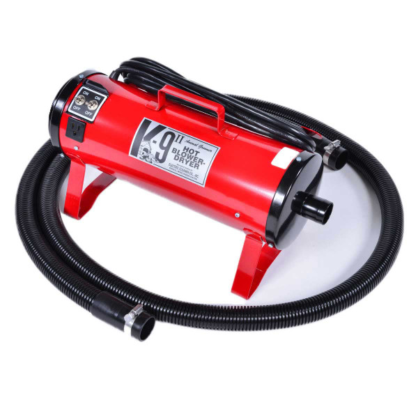 Red K-9 II High Velocity 2-Motor Dryer for dog grooming
