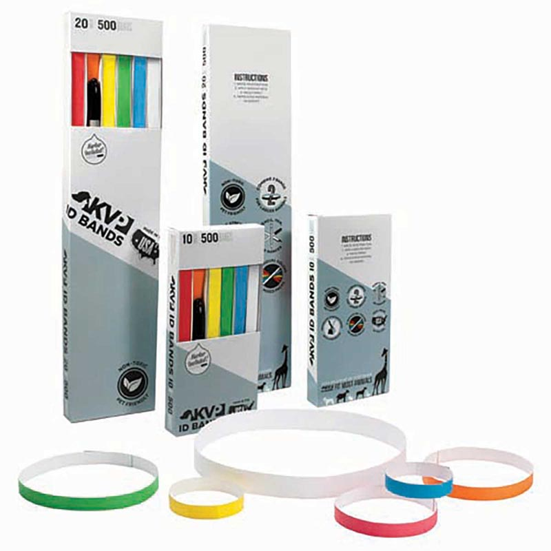 500 Pack - Positive Identification Bands 10 inch by 1 inch - White