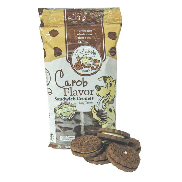 Exclusively Dog Carob Flavor Sandwich Cremes Dog Treats 8 ounce
