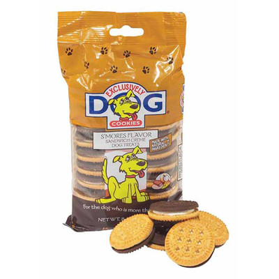 8 oz Exclusively Dog Sandwich Cremes Smores Flavor Dog Treats