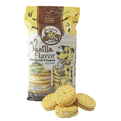 Exclusively Dog Sandwich Cremes Vanilla 8 ounce Dog Treats