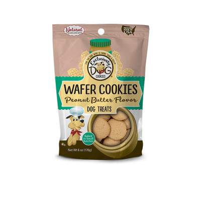 Exclusively Dog Wafer Cookies Peanut Butter Flavor 6 oz