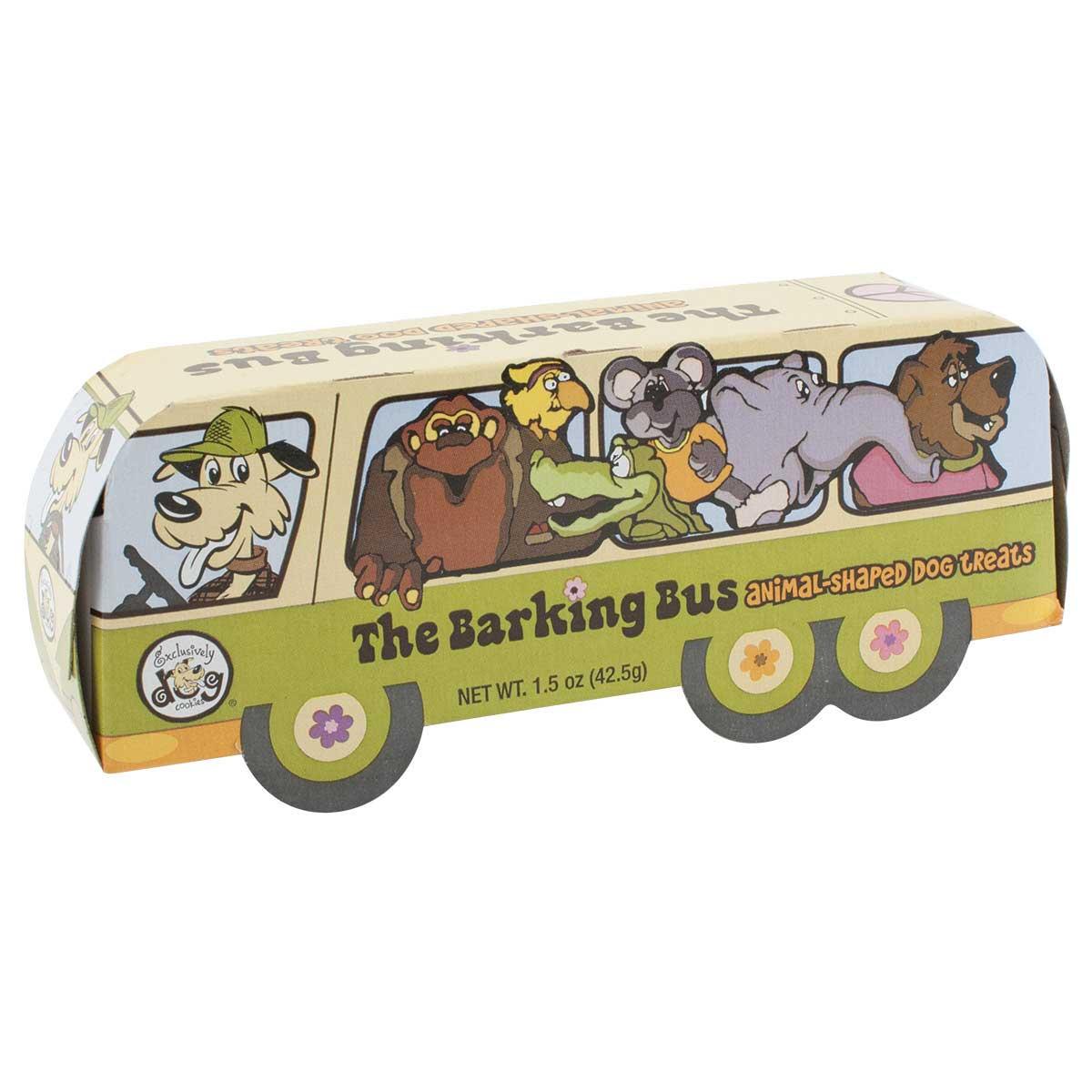 Exclusively Dog Barking Bus Animal Cookies Dog Treats 1.5 oz