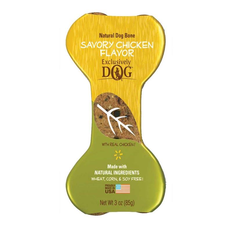 Exclusively Dog Jumbo Dog Bones Savory Chicken Flavor