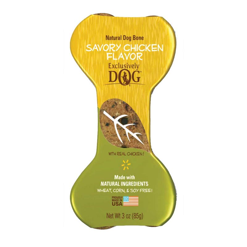 Exclusively Dog Jumbo Dog Bones Savory Chicken Flavor
