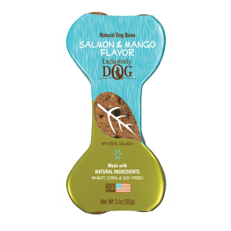 Exclusively Dog Jumbo Dog Bones Salmon & Mango Flavor Treats