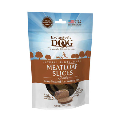 Exclusively Dog Meatloaf Slices Meat Treats for Dogs 7 oz