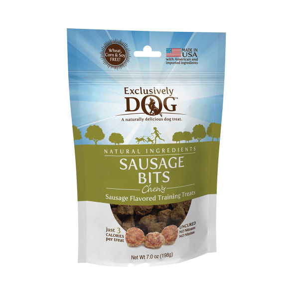 Exclusively Dog Sausage Bits Meat Treats for Dogs 7 oz