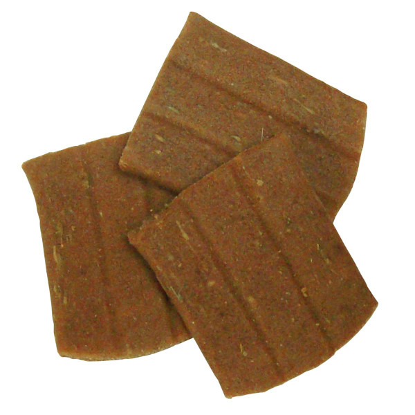 Close up of Exclusively Dog Its Turkey Time Grain-Free Meat Treats 7 oz