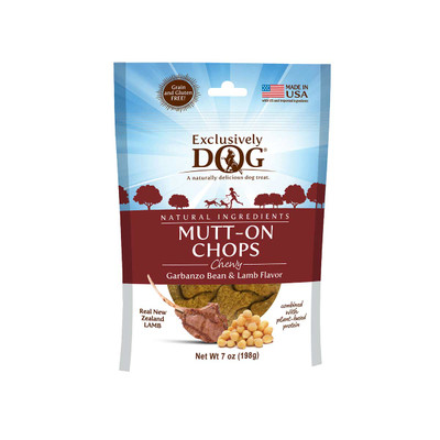 Exclusively Dog Mutt-On Chops Grain-Free Meat Treats for Dogs 7 oz