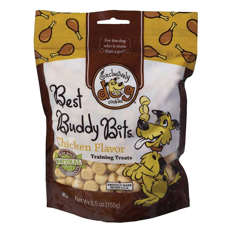 Exclusively Dog Chicken Flavor Best Buddy Bits Training Treats - 5.5 oz