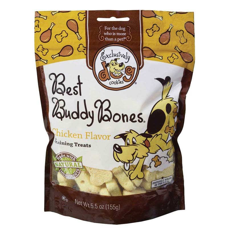 Exclusively Dog Best Buddy Bones Chicken Flavor 5.5 oz Training Treats for Dogs