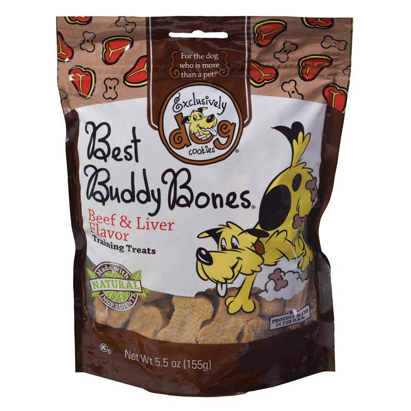 5.5 oz Best Buddy Bones Beef & Liver Training Treats from Exclusively Dog